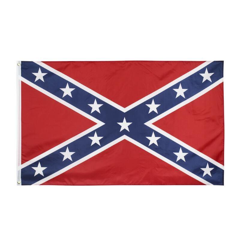 남부 동맹 국기 미국 전투 남부 깃발 150 * 90cm 폴리 에스테르 국립 플래그 두 양면 인쇄 남북 전쟁 플래그 바다 운송 DWA912