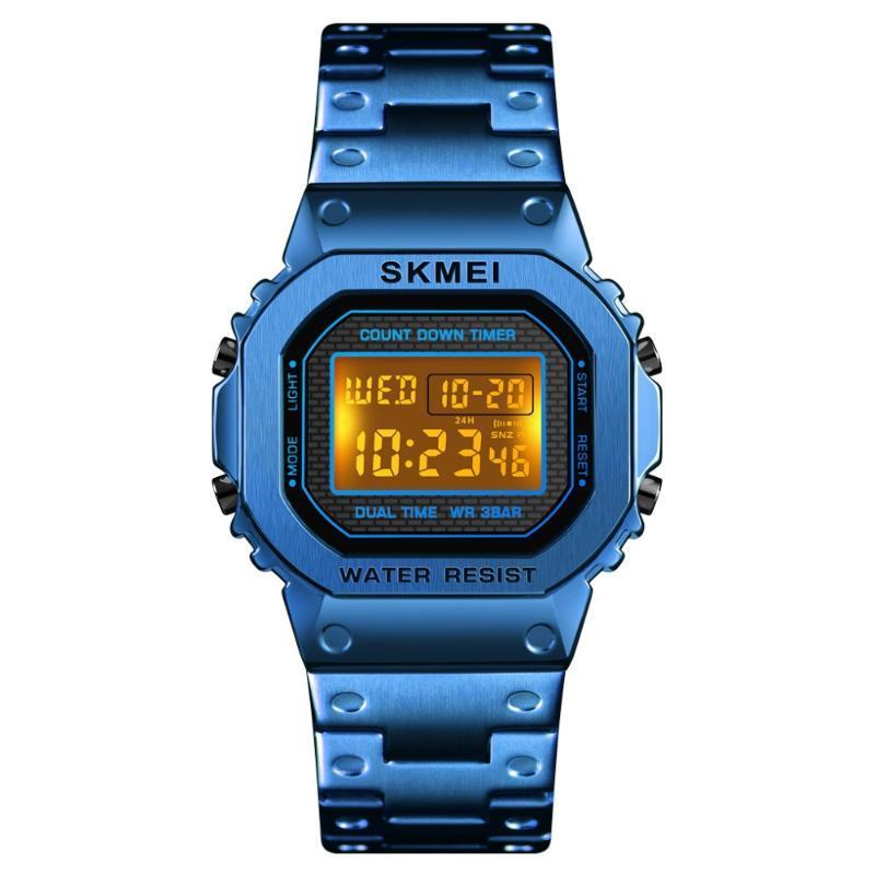 SKMEI Marca Men Deportes impermeable reloj cronógrafo Cuenta atrás digital reloj de los hombres de moda reloj electrónico Despertador