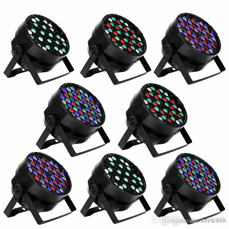 54x3W أدى أضواء المرحلة DMX 512 التحكم LED DJ PAR ضوء RGBW المرحلة الإضاءة عرض حزب DJ KTV بار المرحلة النادي