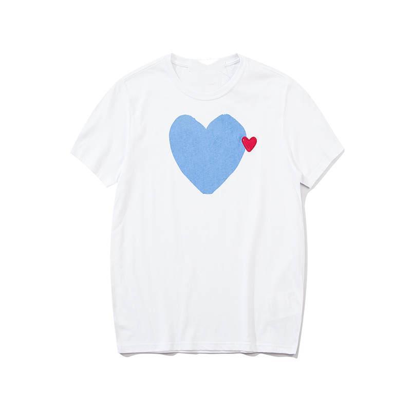 Erkekler Moda Erkek için 2020 Yeni Yaz T Gömlek Kalp Baskılı Mürettebat Neck ile Kısa Kollu Shirt Tees Giyim S-XL Tops