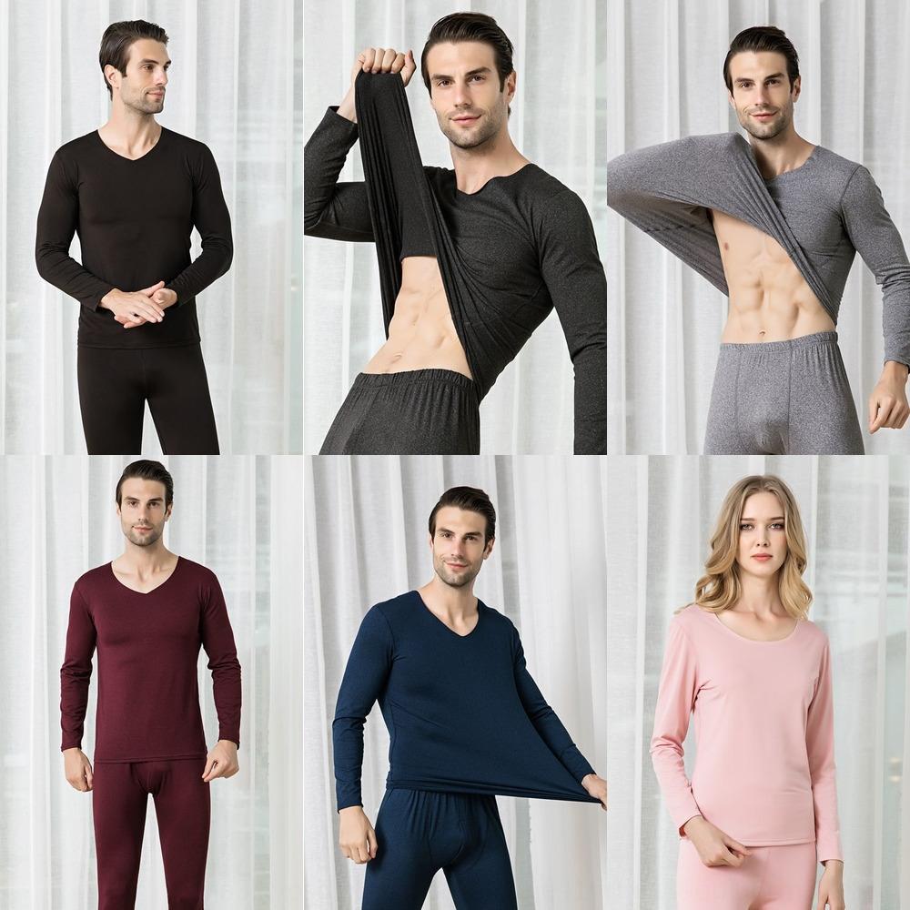 Männer und Frauen warme Unterwäsche und Kleidung Thermo-Unterwäsche schlank Paar Herbst Kleidung Herbst Hosen nahtlos bequemen warm s Schleif