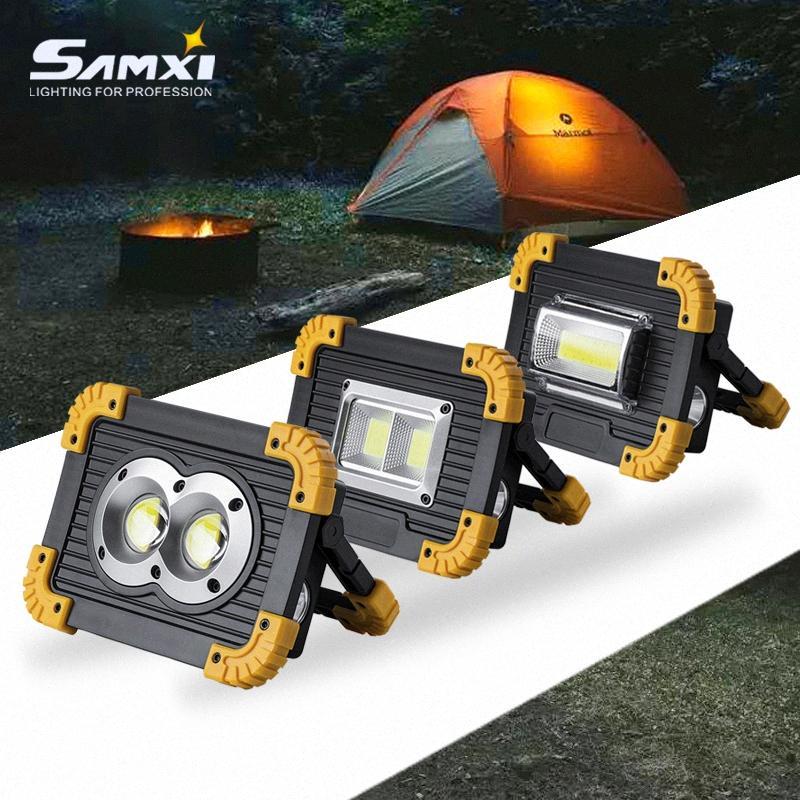 Taşınabilir Spotlig 18650 Pil ile şarj edilebilir LED As Güç Bankası Kamp Malzemeleri İçin Kamp Lamba Açık Fener Şarj Edilebilir Lan QVMu #