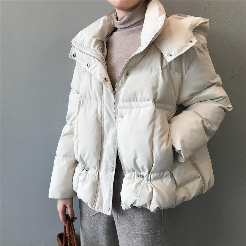 Winter-Jacken-Mantel-Frauen-beiläufige koreanische Art Padded Wattierte Jacke mit Kapuze Parka Kleidung für Frauen 2020 Ropa Mujer Invierno