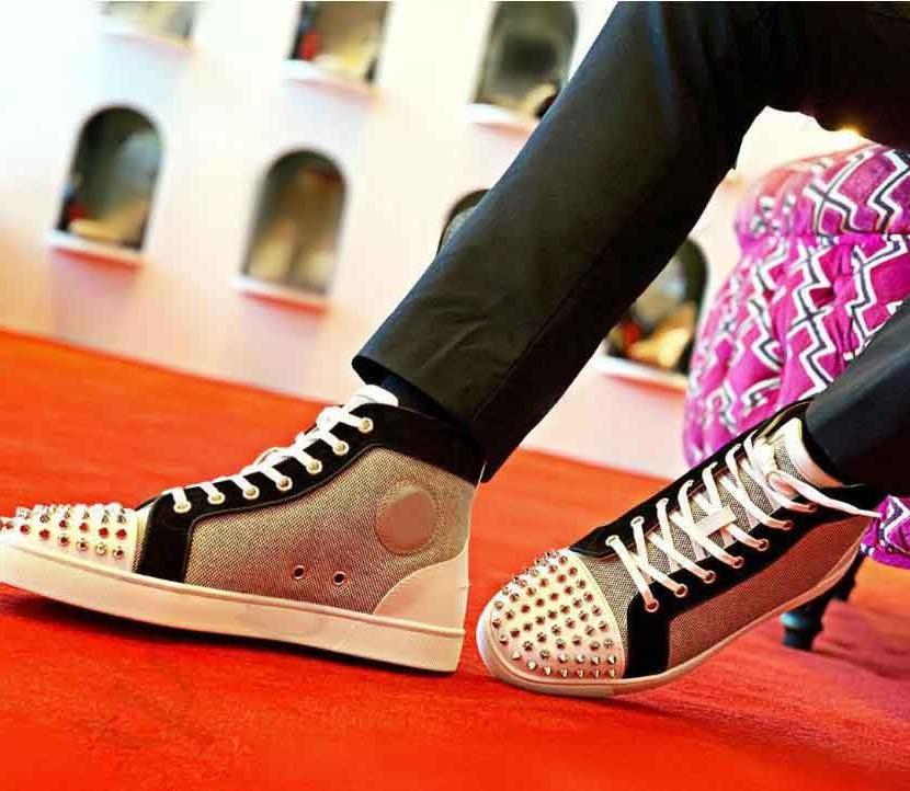 Sneakers in cuoio all'ingrosso Sneakers Unisex Uomo Scarpe da fondo rosso, Designer di Prestigio Rantus Orlato Uomo Appartamento appartamento all'aperto Piace all'aperto Scarpe da ginnastica