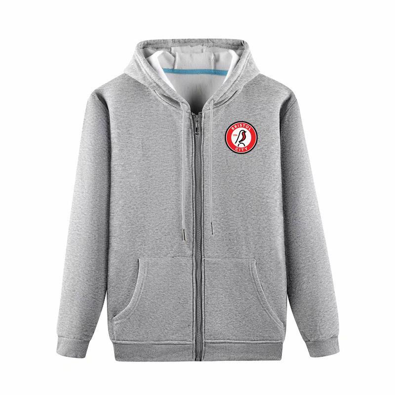 2020 Бристольские мужской новая тенденция с капюшоном свитера куртки футбола серии бегущей курткой способом хлопком футбол спортивной куртку