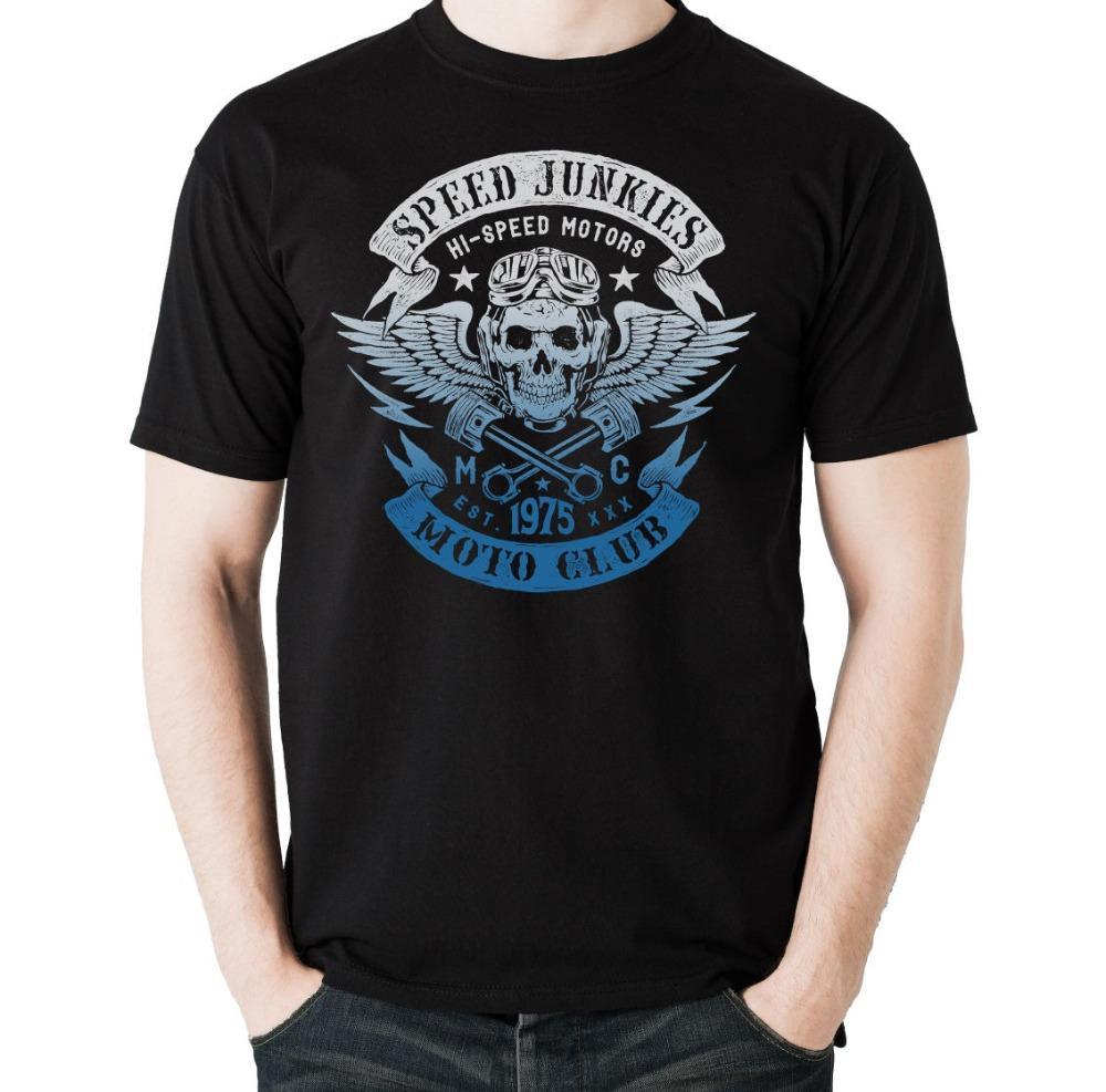 Speed Junkies Salut Speed Moto Club - Hommes Biker T-shirt Moto Biker 2020 Fashion 100 récent% coton à manches courtes