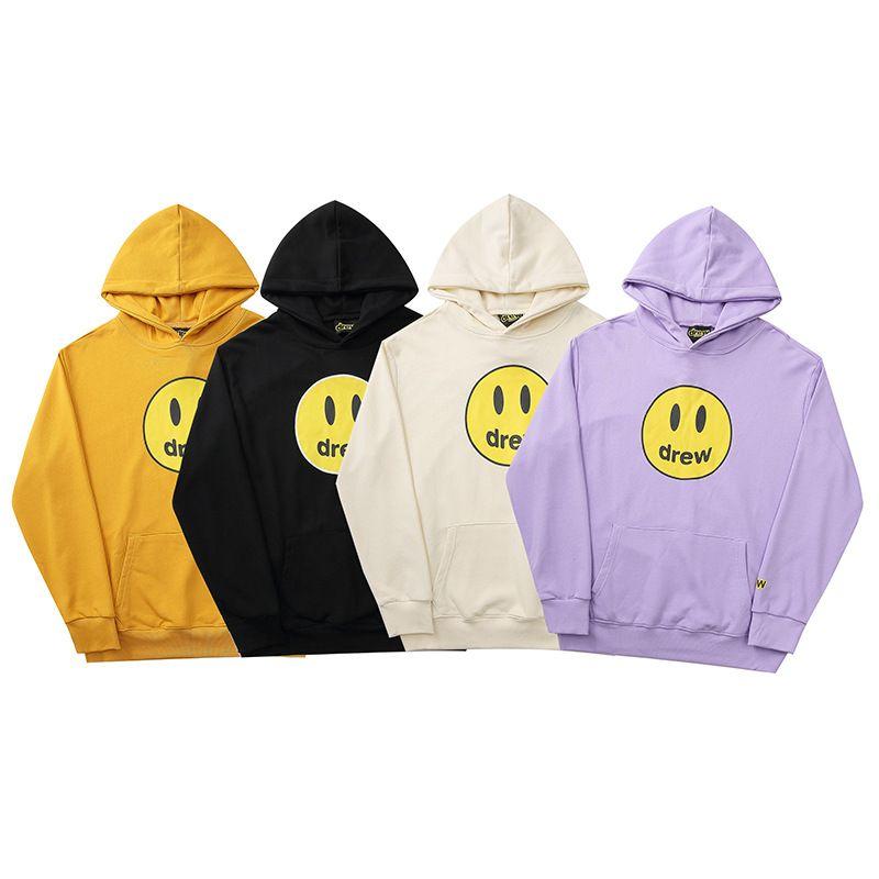 Sweats à capuche de souvenirs pour Drew house American Rapper American Capuche Pullovers 3D Lettres Sweatshirts Veste en plein air Jackeshoodies