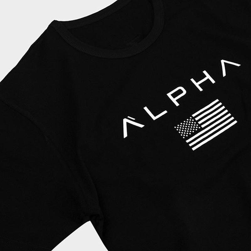 Spor tişört Erkekler kısa kollu Pamuk tişört Casual Baskı İnce t shirt Erkek Spor Vücut Geliştirme Egzersiz Tee Yaz giysileri Tops