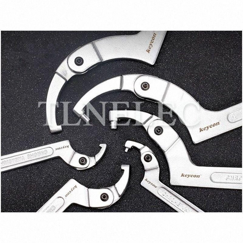 1шт Регулируемая головка Crescent ключ квадратная голова и круглый Гаечный Мульти - Функция Hook Тип ключ fhDo #