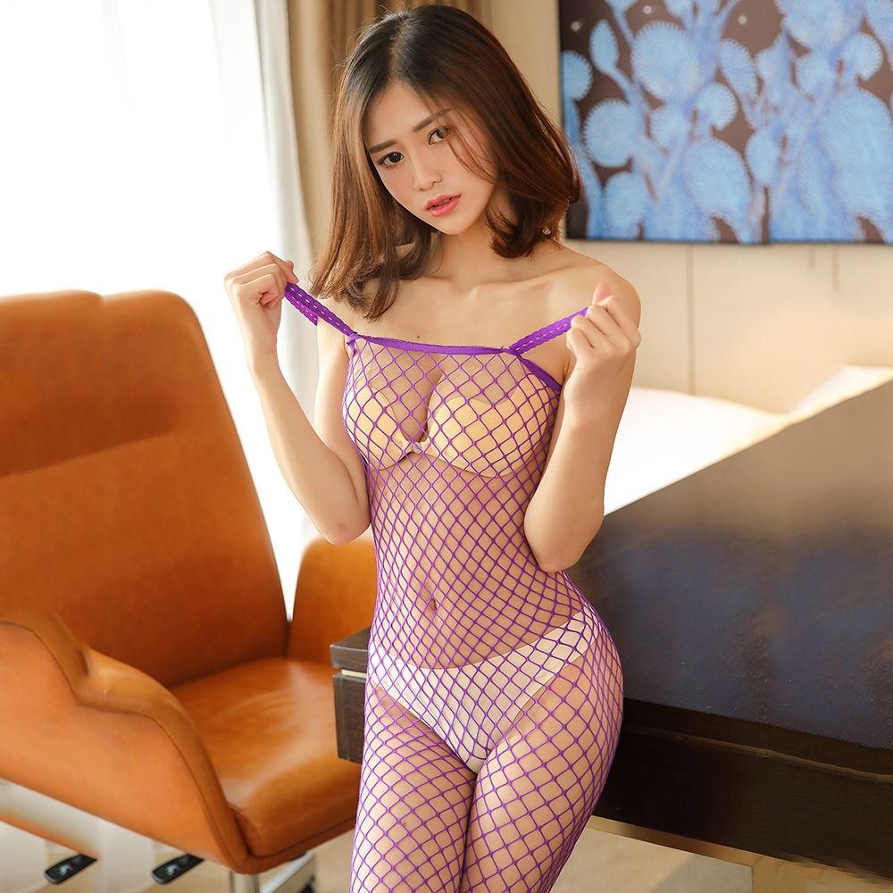 Mimier biancheria intima sexy grandi rete di sling aperta raggio Sling pigiama della biancheria intima un pezzo calze pigiama tentazione uniforme vuoto-fuori