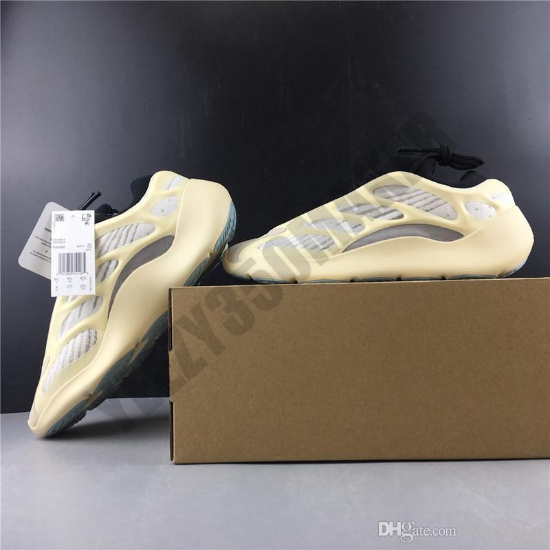 chaud 700 V3 Azaël Kanye West Runner Hommes Chaussures de sport kanyewest 700V3 sport Chaussures Homme Blanc Skeleton Chaussures de course Homme Lumière Formateurs FW4980