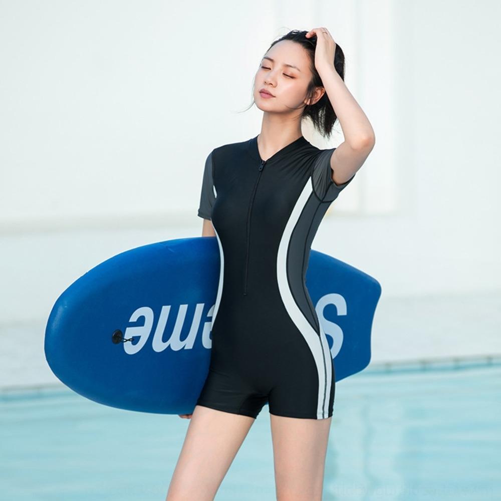 QCKX0 Sexy плюс плюс размер один цельный консервативный студент плавание Бикини плавать купальник Корейского спортивного костюма бикини весны 2019 женщин горячего