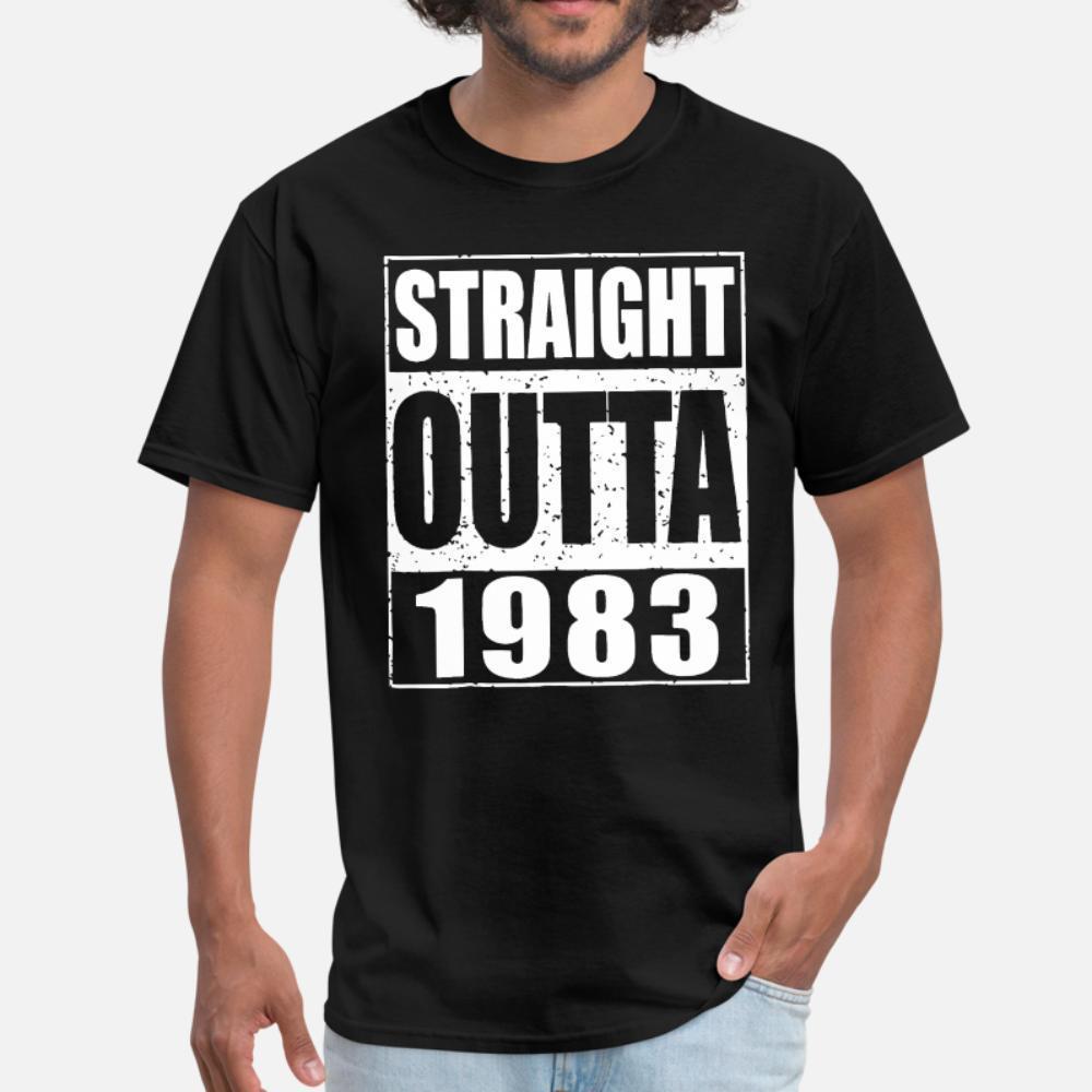 Straight Outta 1983 Divertente 30 ° compleanno uomini regalo una t shirt uomo creano manica corta girocollo unisex allentato camicia autentico stile estate