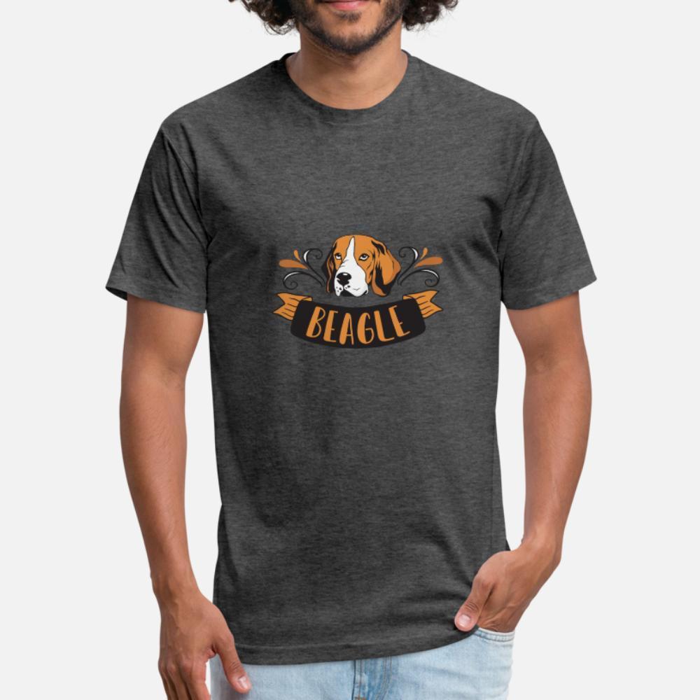 Beagle Cane uomini della maglietta di disegni del cotone dei vestiti S-3XL camicia Grafica Umoristica estate Vintage