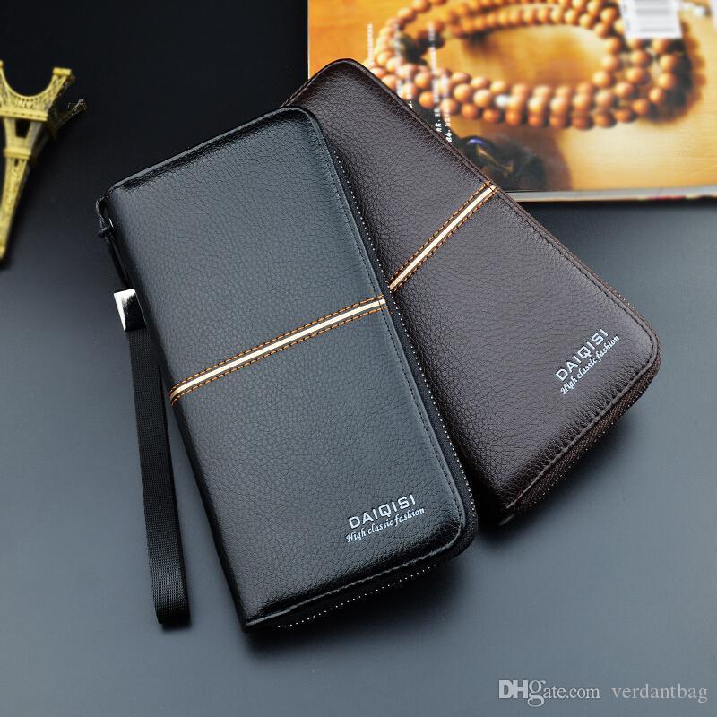 Atacado bolsa de moedas carteira longa zipper carteira de embreagem bolsa de negócios caso ocasional grande capacidade macio carteira telemóvel 5014