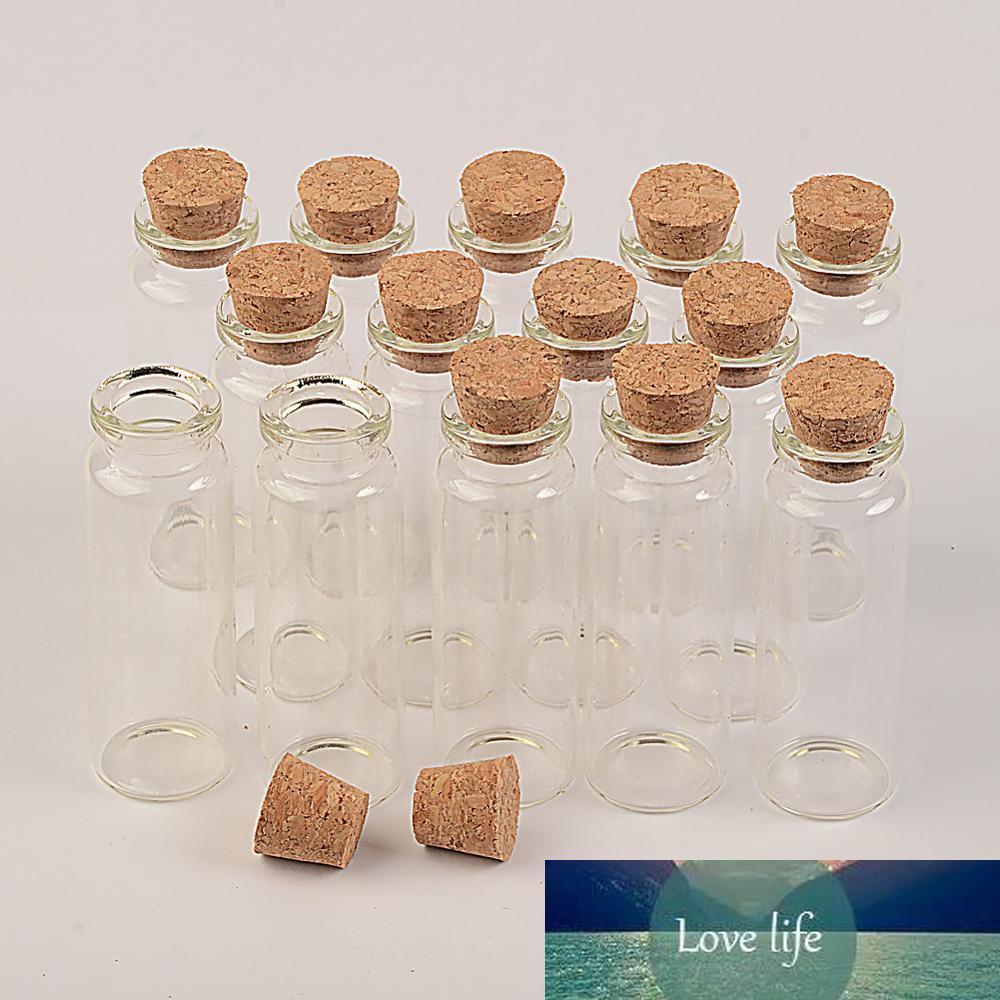Botellas Botellas de vidrio de 15 ml Perfumes pequeñas embarcaciones Corchos 50pcs 22 * 65 * 12.5mm