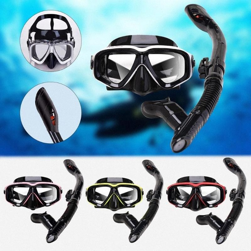 جديد الفنية الغوص قناع غص مكافحة الضباب نظارات نظارات أنبوب مجموعة الرجال النساء سيليكون حمام سباحة المعدات 6z1P #