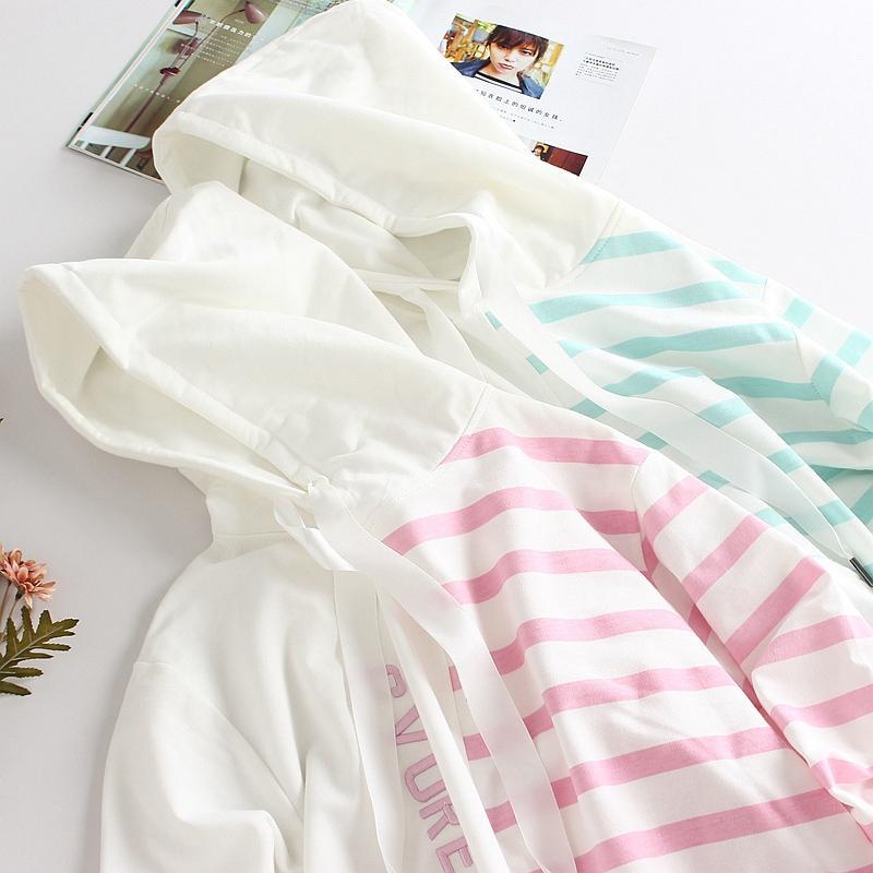 Bambini Abbigliamento Outwear Bianco Rosa CAPPUCCIO Student modo delle ragazze di cotone Giacche