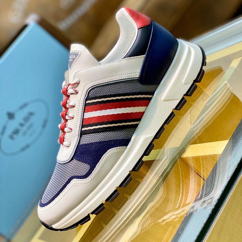 2020 I2 Fashion Trend Designer Herren-Schuh-Leder Mesh-Breathable bequemer Outdoorschuh Lace-up beiläufige Wanderer Schuhe Herren Sneakers