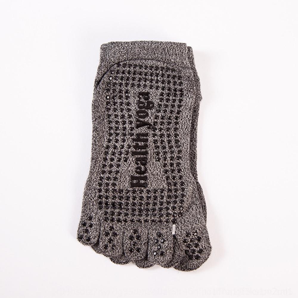 antideslizantes de mesa junta de cinco dedos calcetines deportivos grandes de tamaño cama elástica toe-split piso de yoga calcetines de los hombres de X0OYt