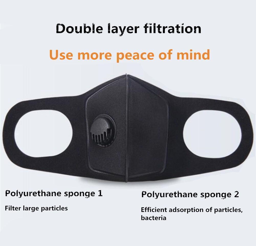 Olores máscaras respiratorias ajustable Humo Negro Aire Boca correas reutilizables del oído para la máscara de polvo de la contaminación Cara dnFEs bwkf