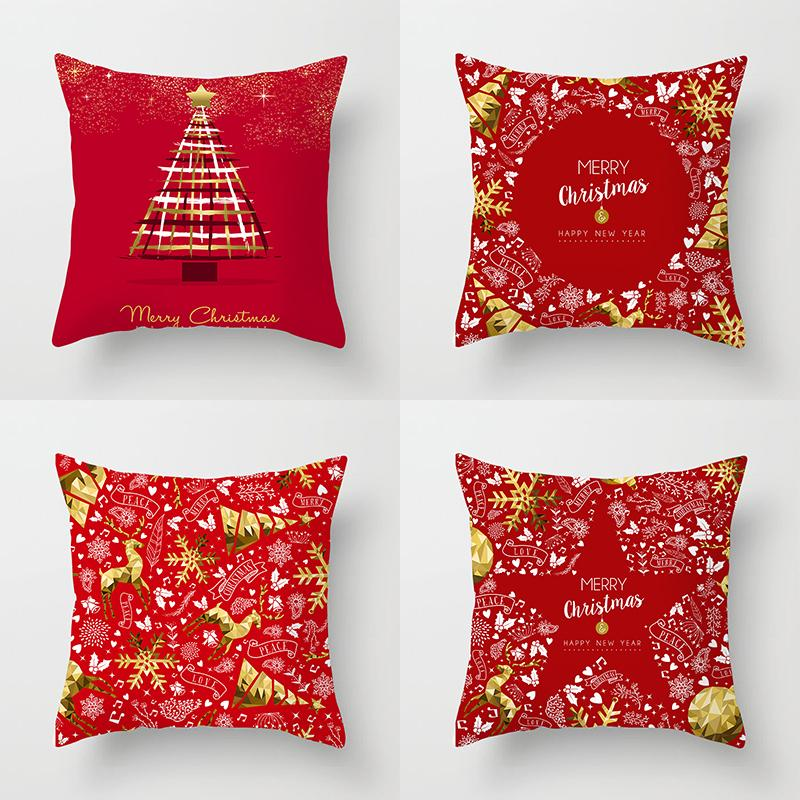 Merry Christmas Decor Throw Pillow Case Red Gold Cushion Covers For Home Sofa Chair Decorative Pillowcases Zippered Pillow Case Blue Pillow Covers From Designerwallet1 2 25 Dhgate Com