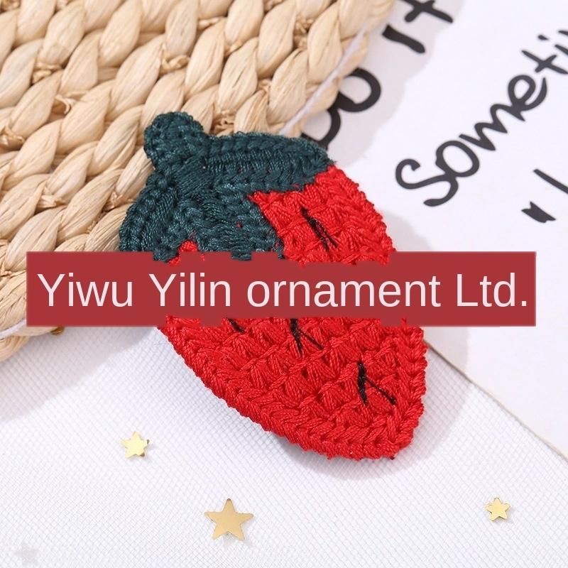 Corea del Sud Yafeng lana di frutta copricapo a maglia frutta tornanti ragazze tornante copricapo accessori per capelli cute baby per bambini lato clip 0iqvW
