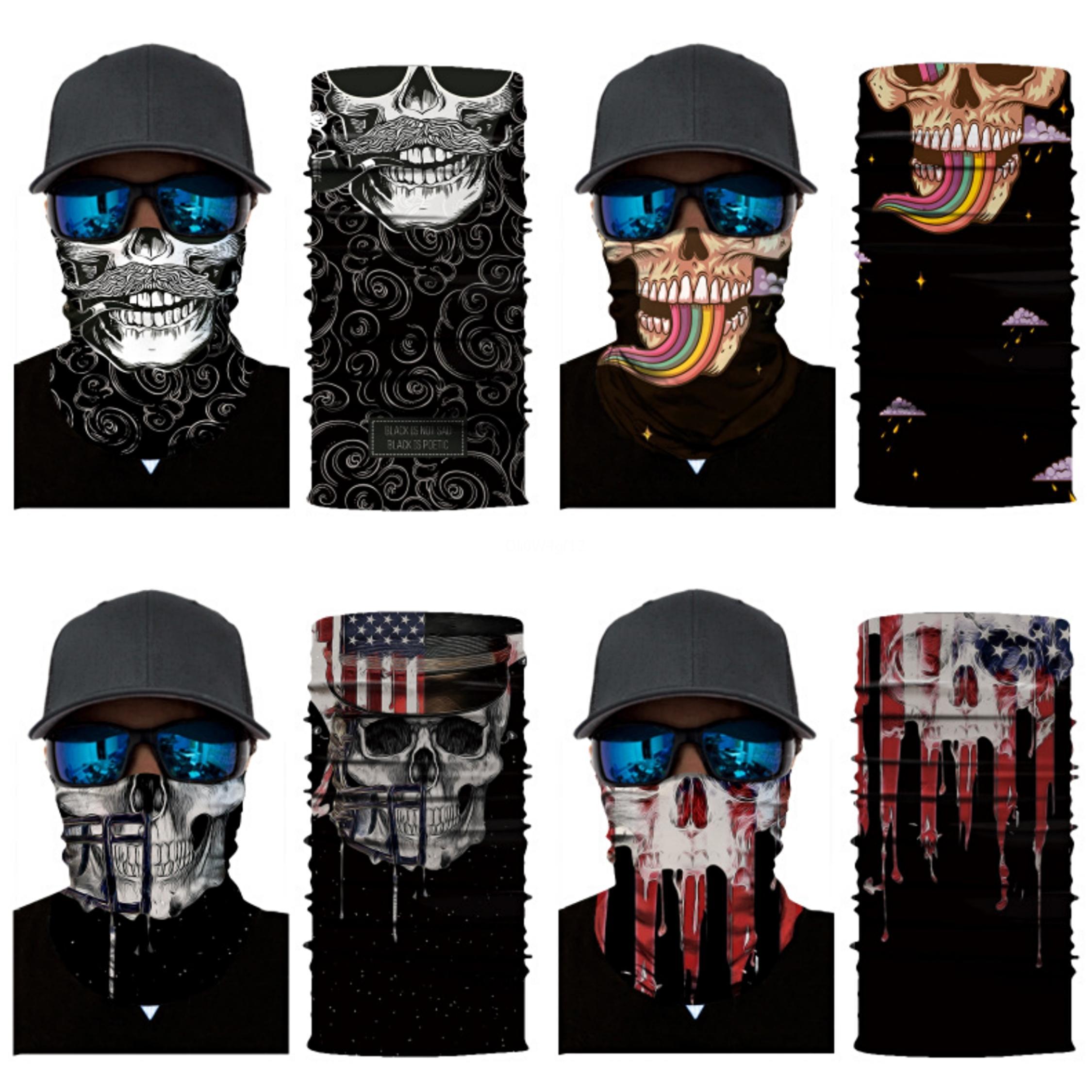 Motivo personalizado Montar Cinta de cabeza cráneo inconsútil realista bufanda al aire libre del alpinismo de la cara mágica Headskull bufanda Ejército desierto rojizo Camoufl # 154