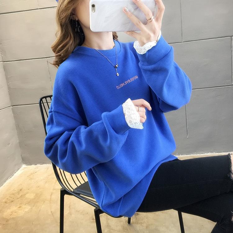 YntMB superior ronda suéter nuevo jersey de las mujeres del otoño y la carta de estilo coreano delgada impresión floja 2020 cuello ins superior del invierno de moda para las mujeres GVqF