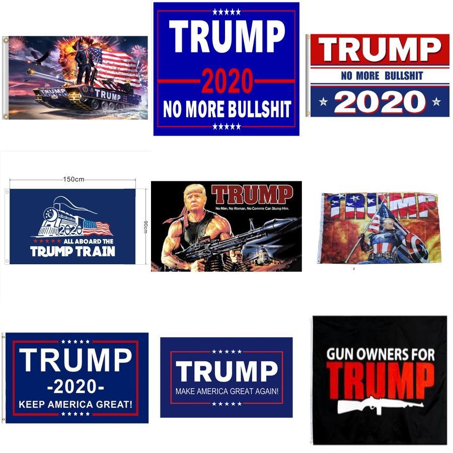 90 * 150cm Donald John Trump Amercia Bayraklar Polyester Branda Kafa Metal Gromet Kişilik Decortive Trump Bayrağı # 195