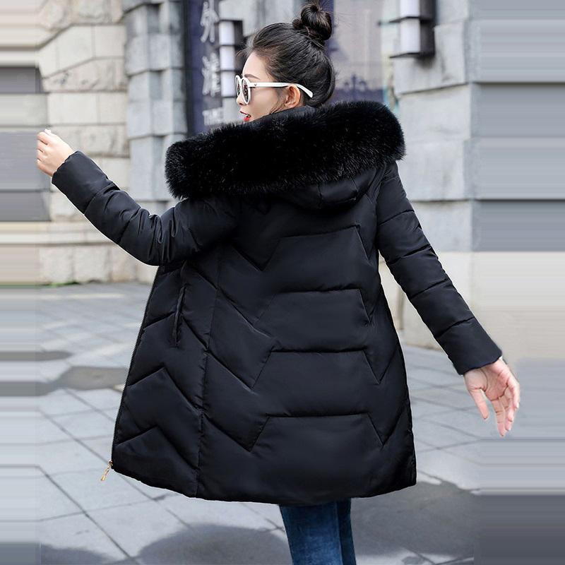 Chaqueta de invierno Mujeres Talla grande 2020 Nuevo Ucrania 7XL para mujer Abrigo de algodón con capucha gruesa Capa de invierno con capucha gruesa Chaquetas femeninas Largas Parkas