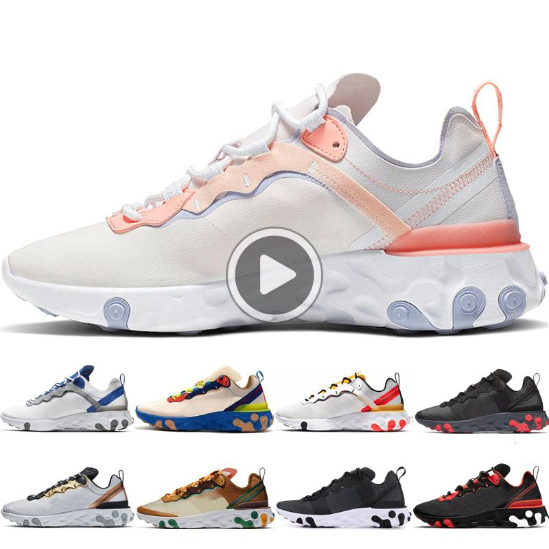 mens Frauen Hochwertige Laufschuh Schuhe 55 87 Element reagieren Pale Pink-Team weiß grün Orange Peel Anthrazit sneaker eur 36-45 ERSM rot