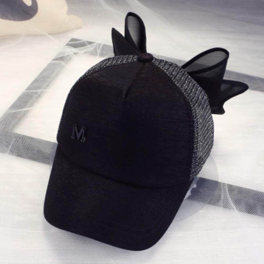 Kadın yaz pruva güneş şapkası beyzbol sevimli ebeveyn-çocuk hip hop M harfli Hip-hop beyzbol şapkası kap ördek dil şapka örgü