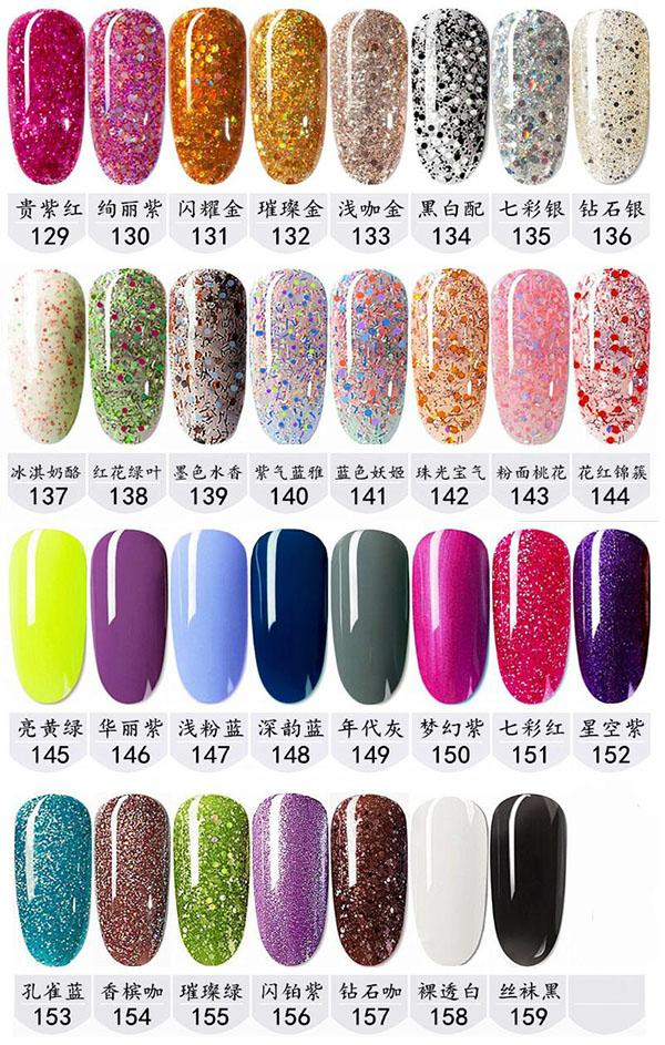 159 colors Soak Off Nail Gel Polish Nail Art Gel Lacquer Led/uv Base Coat Foundation & Top coat Free shipping