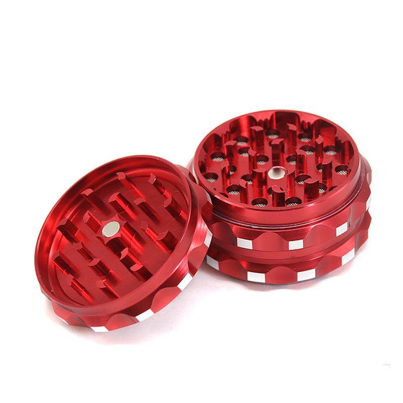 Fashion Design personalizzato 3 strati giroscopio a forma di sigaretta Grinder 63 millimetri in lega di alluminio Tabacco Grinder
