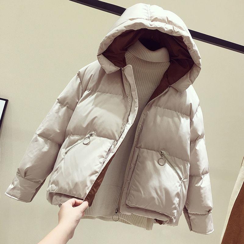 2020 New Winter Jacket Women Coat Parkas Short Hooded Casual Overcoat Warm Cotton Padded Jacket Parka Female Outwear 1020