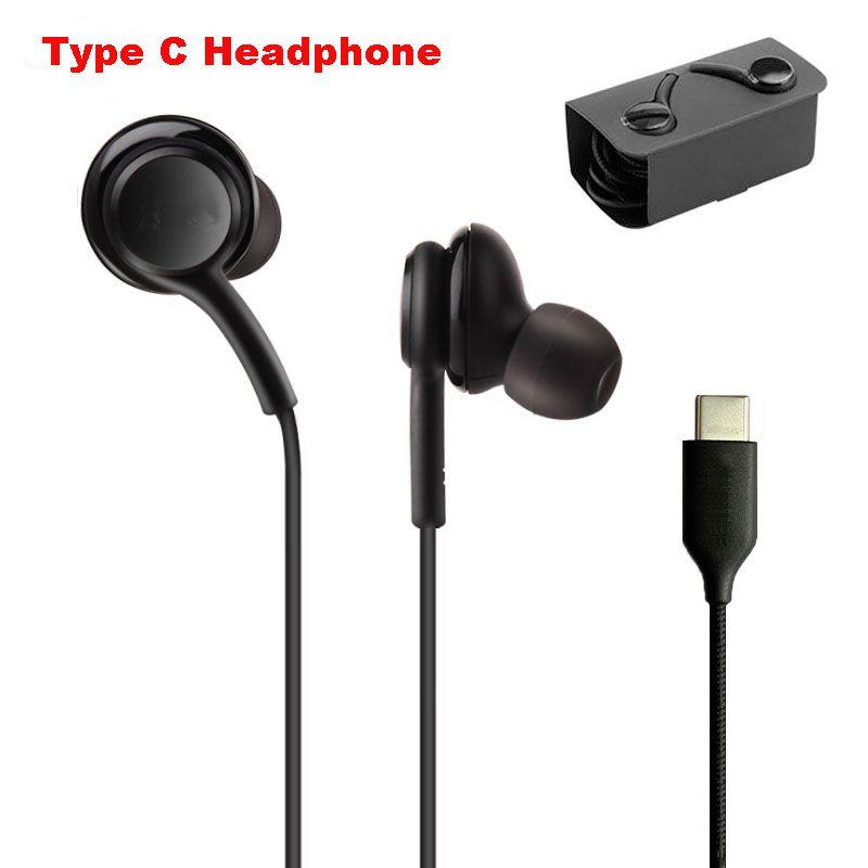 OEM Qualidade USB C Jack Auscultadores para Nota 10 PLUS S20 Ultra Wired Headset para Samsung Galaxy A8S A9s Tipo C plug do fone de ouvido