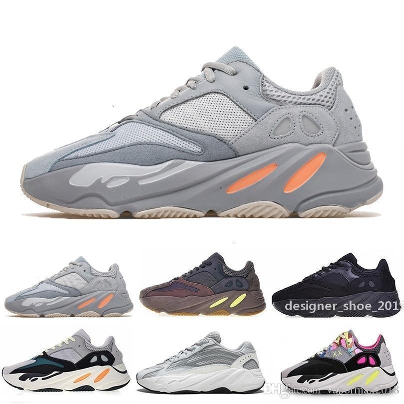 2020 Kutu 700 Dalga Runner Leylak Ee9614 B75571 rahat ayakkabı erkekler Kadınlar B75571 Dikiş Renk Üst Kalite Atletizm Erkek Us 5 -11 ile 0,5