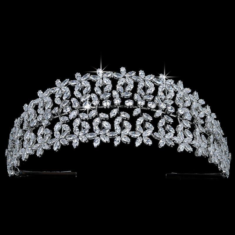Taç HADIYANA bırak Shpes Tasarım İçin Kadınlar Düğün Saç Aksesuarları Parti Tiaras Ve Taçlar Yüksek Kaliteli Zirkon BC5166
