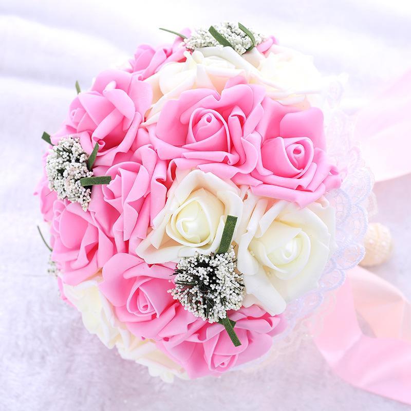Fiori artificiali della sposa bouquet azienda nozze puntelli simulazione fiori damigella d'onore che tiene i fiori decorazione fotografia di matrimonio