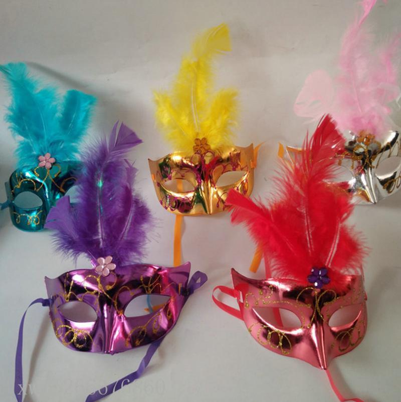 Pluma princesa PVC de la máscara de la máscara atractiva de la mitad de la danza partido de la cara máscara veneciana de la mascarada de Cosplay Decoración