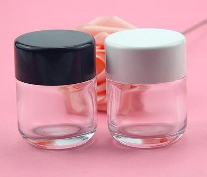 2 oz chiaro vaso di vetro a chiusura ermetica bocca larga 60 grammi secca erba confezionamento vasetti ermetici vaso di vetro laterale diritta contenitore con coperchio a vite