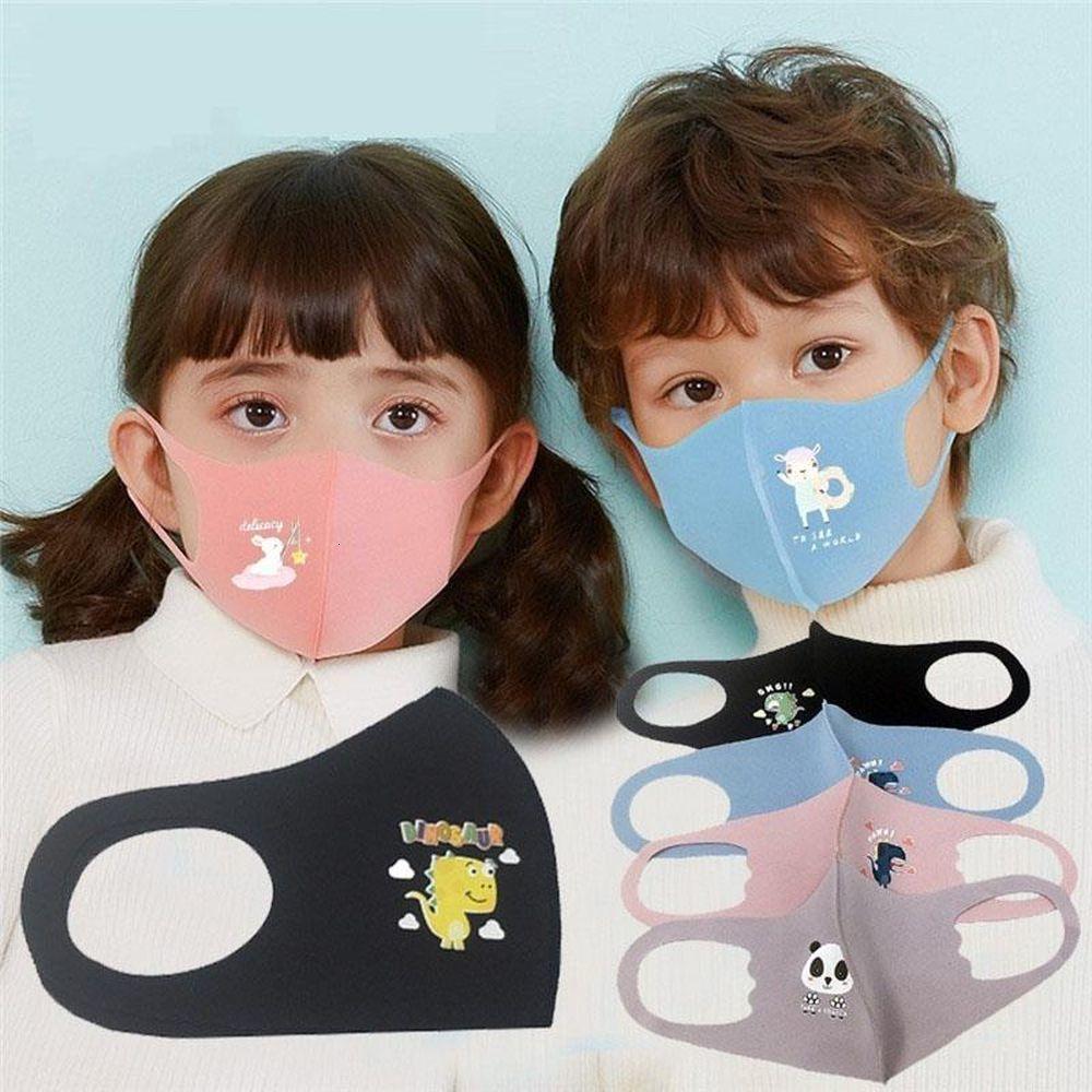 Yüz Anti-sis Kid Ağız Karikatür Anti-toz Nefes Çocuk Maskeler Maske