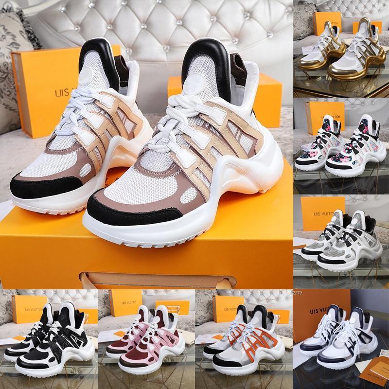 LV 2020The дизайнер бренда роскошный кожаный случайные кроссовок, стильные ARCHLIGHT кроссовки, удобные платформы, размер 35-45 (с оригинальной коробкой SNOX #