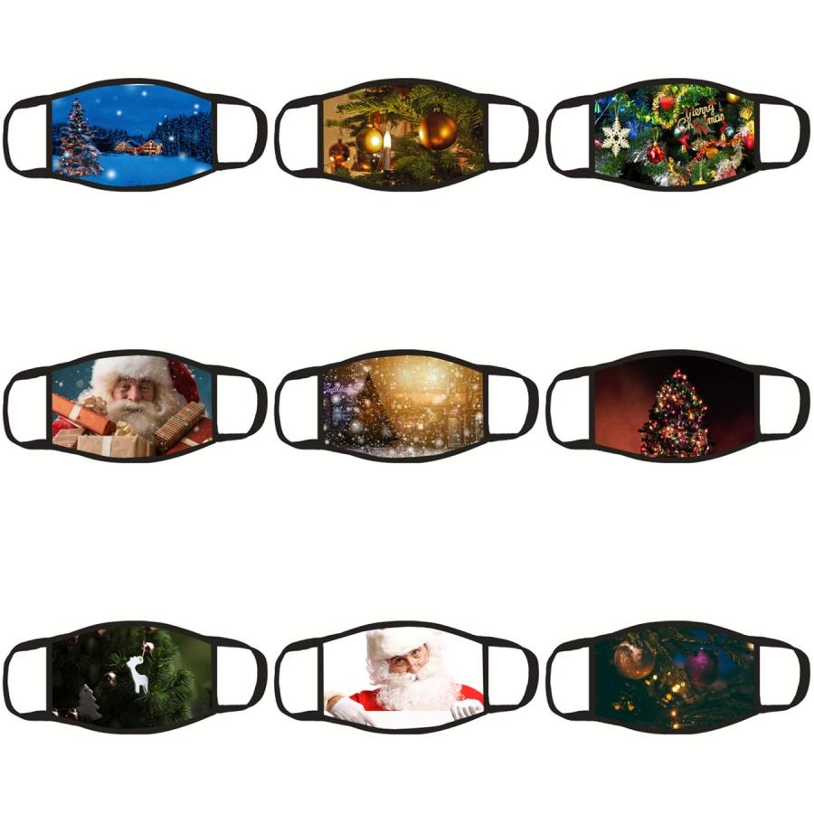 Santa Blanks Sublimation Gasket Shipping Claus Mask Adults Prevention With Filter Pocket Can Put Mens PM2.5 Dust Pr#738 Transfer DIY Fa Hfgf