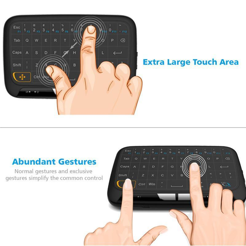 cgjxs New H18 sem fio Air Mouse completa Touchpad Mini Keyboard 2 .4ghz Gaming Touch Pad Para Smart Tv Ps3 Tv Box PC com Windows Android