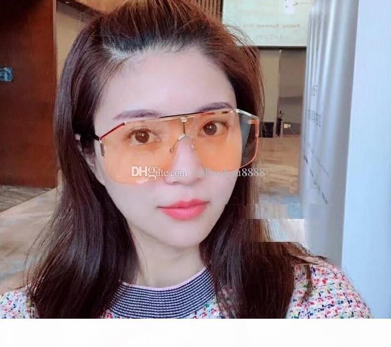 occhiali da sole firmati di lusso occhiali da sole occhiali 0291 frameless ornamentale occhiali UV400 dell'obiettivo di protezione di alta qualità semplici occhiali all'aperto