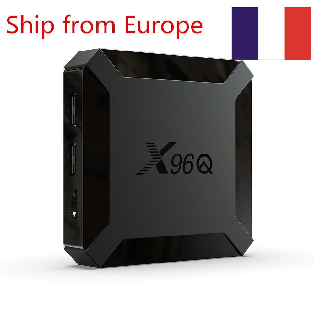 (السفينة من أوروبا) X96Q TV صندوق الروبوت 10.0 ALLWINNER H313 2GB 16GB الذكية التلفزيون صندوق رباعية النواة 2.4G واي فاي