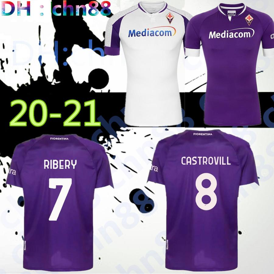 MAN KIDS 20 21 FIORENTINA SOCCER JERSEYS HOME PEZZELLA CHIESA MILENKOVIC 2020 2021 Ribéry maglia LIROLA PEDRO CHILD SET FOOTBALL SHIRTS