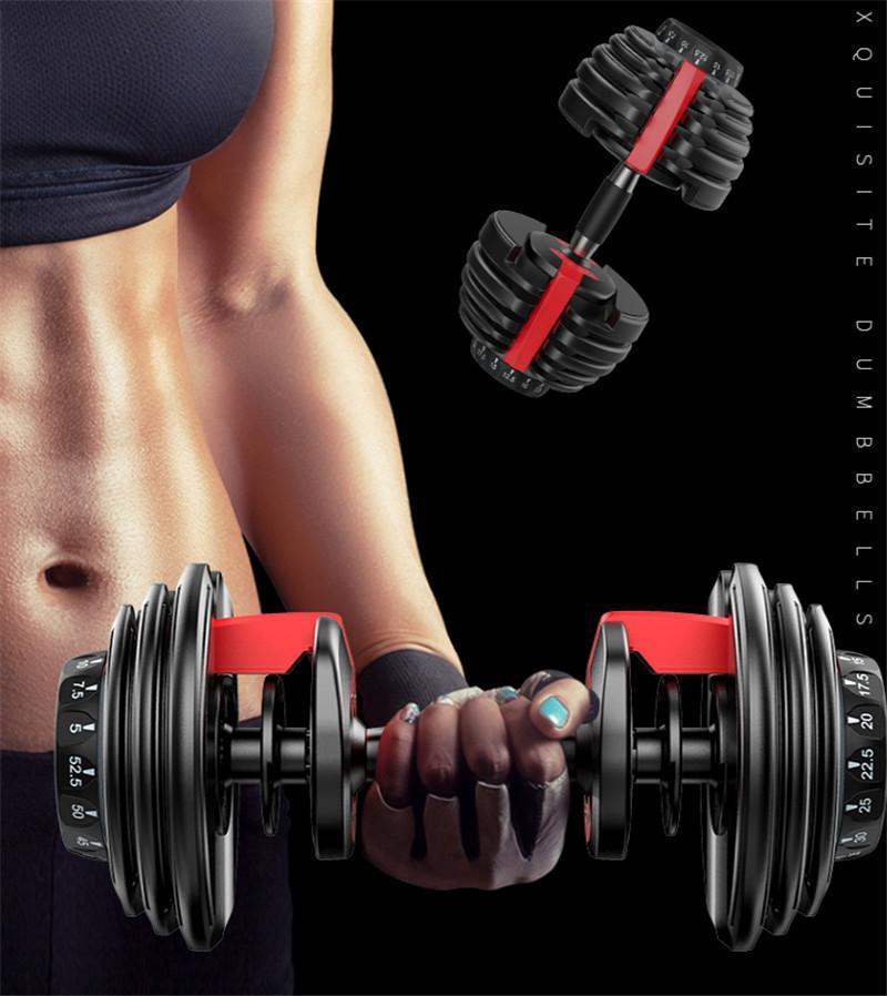 NEW Вес Регулируемая гантель 5-52.5lbs Фитнес Разминки Гантели Сложение тон Strength Мышцы Открытый спортивный инвентарь на складе